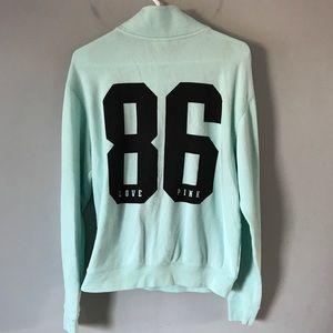 Victorias Secret mint 86 love pink logo sweatshirt